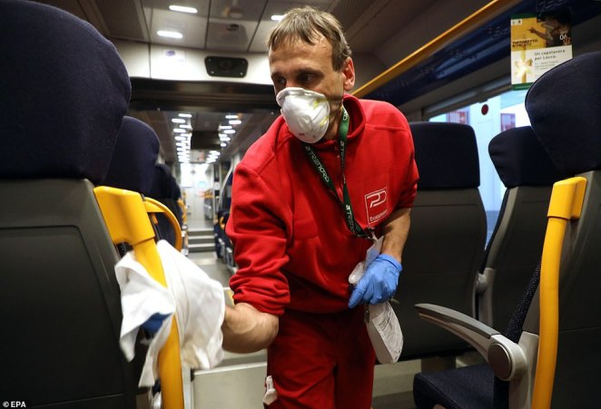 Sanitation of all public transport is among emergency measures being taken by authorities in Milan as Italy tries to halt the spread of coronavirus