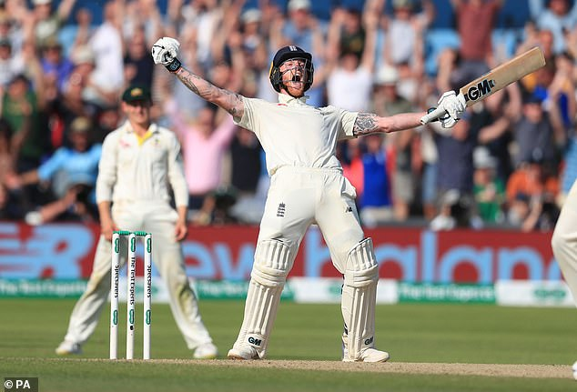England Cricket star Ben Stokes also won the 2019 BBC Sports Personality of the Year award. He is pictured celebrating winning the third Ashes Test match at Headingley, Leeds last summer