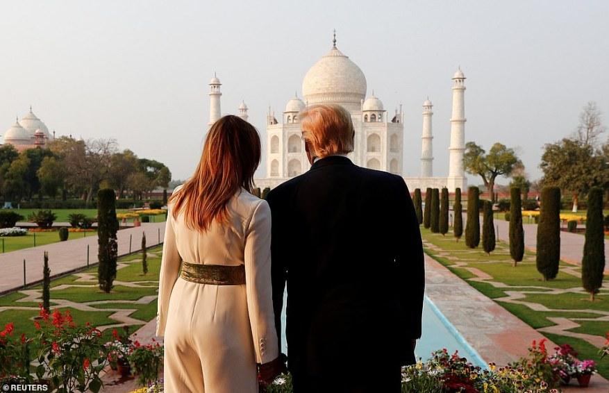President Trump called the Taj Mahal 'incredible' while Melania Trump said it was 'beautiful'