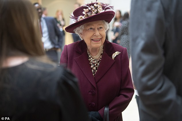 The Queen appeared in excellent spirits as she met MI5 employees at the headquarters