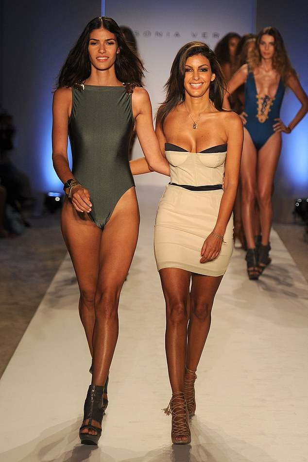 Designer Sonia (pictured right) walks the runwayat the Sonia Vera Swimwear show during Mercedes-Benz Fashion Week Swim at The Raleigh in Miami in July 2011, six years before her mystery illness set in