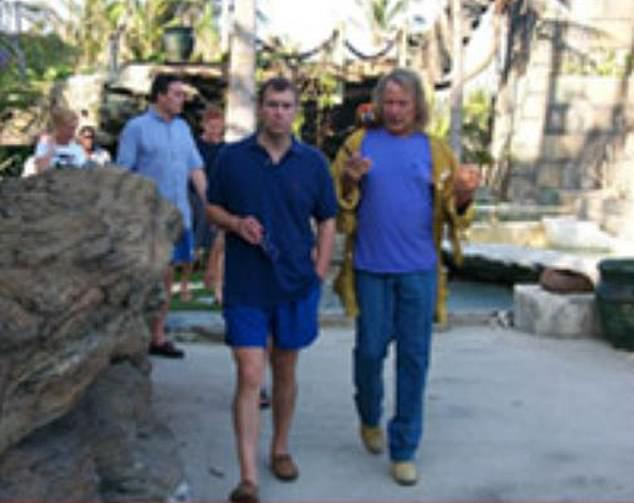 Nygard with Prince Andrew on his Bahamas island in 2011