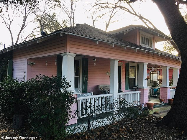 On Wednesday, JR's Demolition mistakenly demolished a residence known as the 'pink house' (pictured) at 5532 Richard Avenue in Dallas
