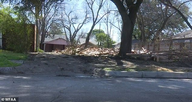 The Irving-based demolition company apologized for the mistake on Thursday. This image shows the debris after the home was destroyed