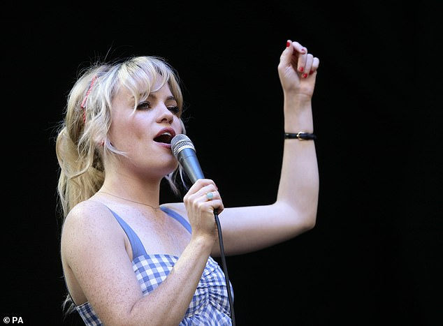 Duffy is pictured above performing in August 2008. The singer yesterday bravely revealed she had been raped