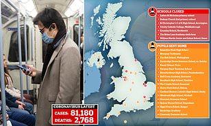Whole UK towns may shut down if coronavirus outbreak grows | Daily ...