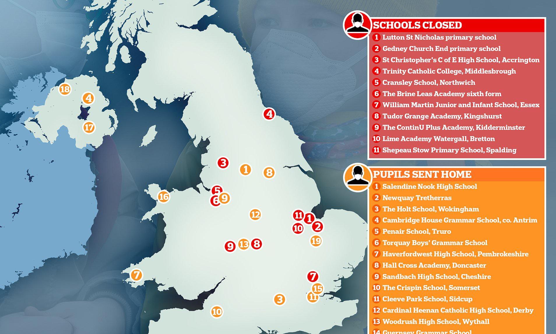 Coronavirus: Over 30 UK schools shut after half-term Italy trips ...