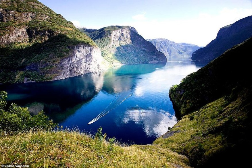 You want to see nature at hits most dramatic? Pick a Norwegian fjord - any of them. Pictured isNaeroyfjord