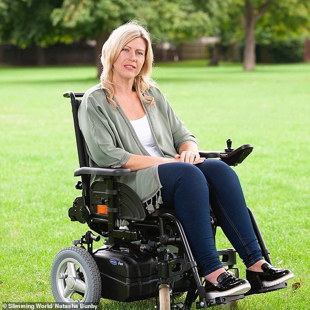 Natasha, pictured today, knew something had to change after she was diagnosed with MS and started using a wheelchair, saying she wanted to do all she could to improve her health