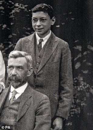 Mr Weighton, pictured above as a teenager