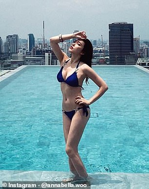 Ms Woo, 28, is also an anchor and she chose to remain in Wuhan for her boyfriend