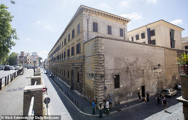 The pair have been held in solitary confinement at the Regina Coeli holding jail (above) in central Rome while detectives investigate the murder