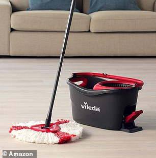TheVileda Turbo Spin Mop and Bucket setis Amazon's bestselling cleaning mop
