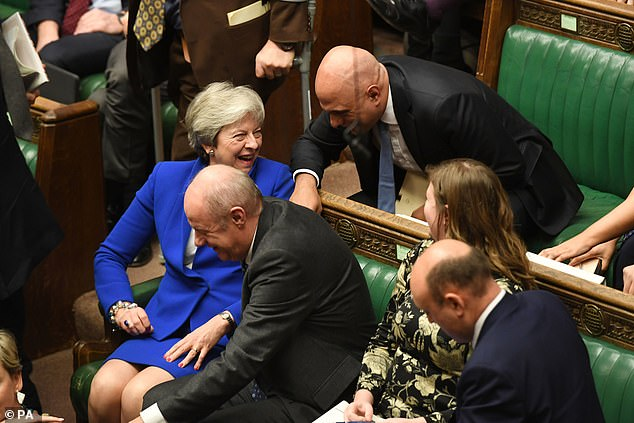 Stopping momentarily to say hello to Theresa May, he chose a sniper position several rows directly behind the PM, writes Henry Deedes