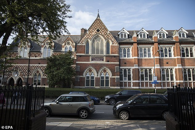 A general view showing Thomas's Battersea school in London where Prince George and Princess Charlotte attend