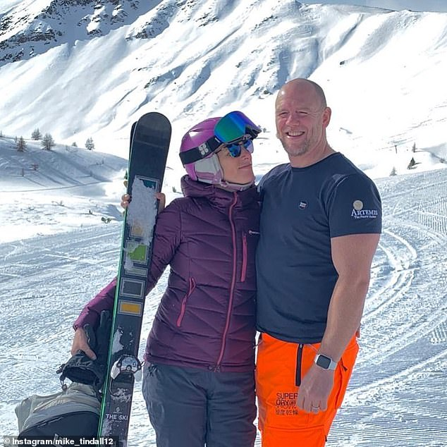 Mike Tindall posted the above picture of him and Zara to Instagram after the couple enjoyed their holiday