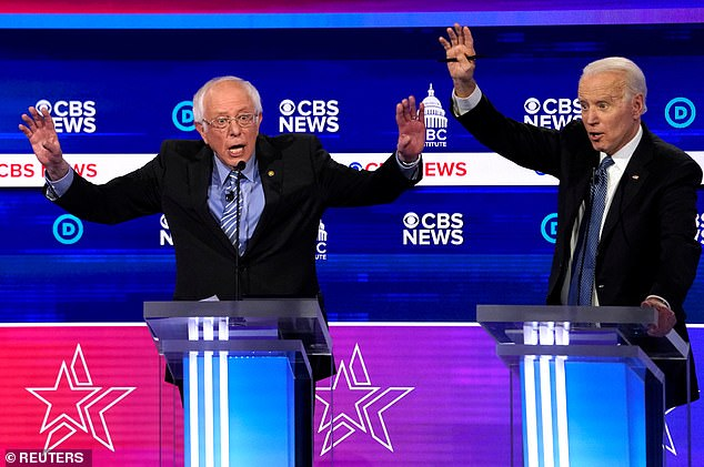 ''I think the financial markets are very upset when they look at the Democrat candidates standing on that stage making fools out of themselves,' said Trump