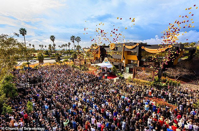 The Church of Scientology was forced to apologize after releasing hundreds of balloons at the opening of a new school
