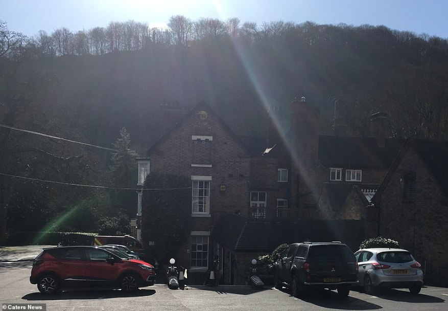 Evacuees from the Wharfage area of Ironbridge have been moved to the town's Valley Hotel (pictured today)