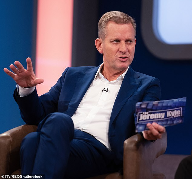 Over: The Jeremy Kyle Show was axed by ITV in May 2019 after guest Steve Dymond took his own life, a week after appearing on the show