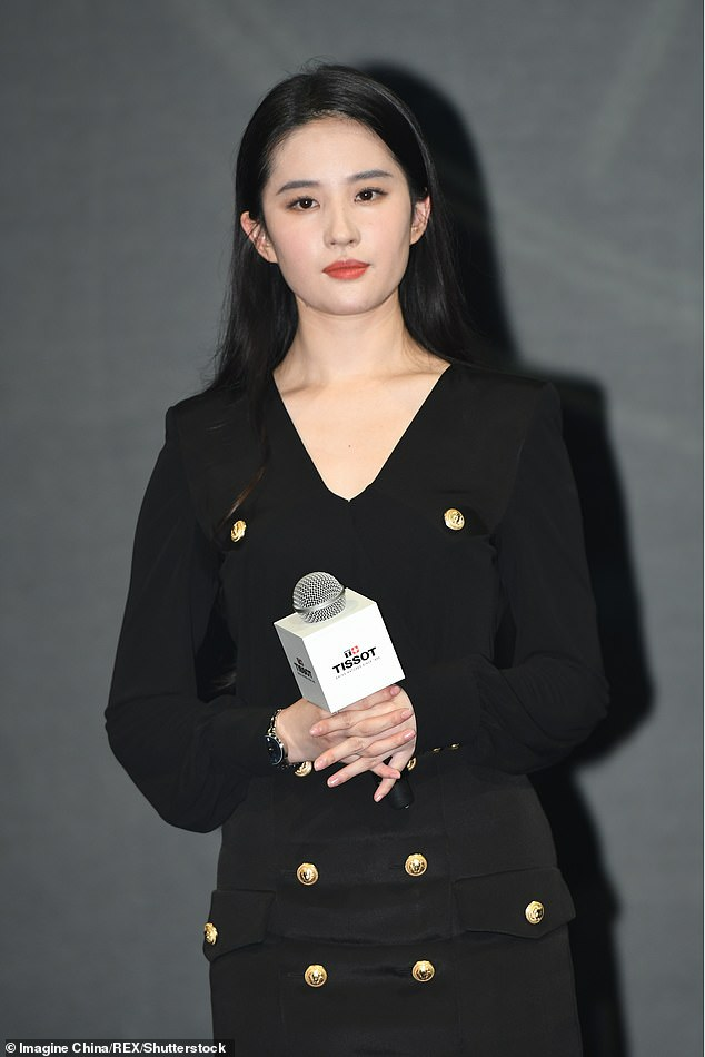 Liu Yifei is pictured attending a Tissot event in Shanghai. She is also the leading star in Mulan