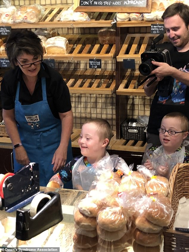 The film for WorkFit, shows that those with the condition are more than capable of being employed. They are pictured working at a local cafe