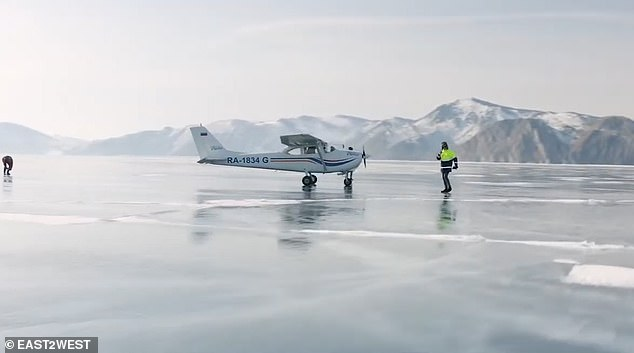 Vadim's team checked the ice was suitable ahead of their trip. He is reportedly contemplating offering winter tours including an epic landing on the ice