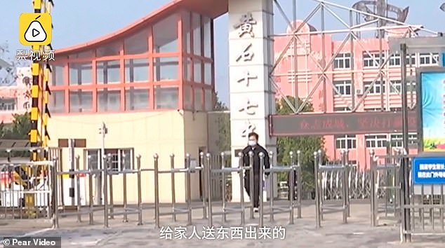 A Hubei resident, known by his surname Chen, was approached by the local media when he was allegedly leaving the camp. He said it was great to have a learning opportunity like this