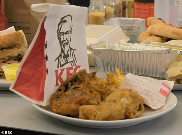 To the surprise of Twitter users, a KFC snack box - which contains a piece of chicken and fries - has is just 475 calories and20g fat