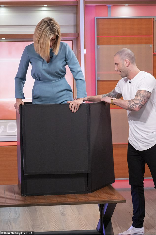 Canadian illusionist Darcey Oake was tasked with making GMB host Kate Garraway disappear during the live TV segment