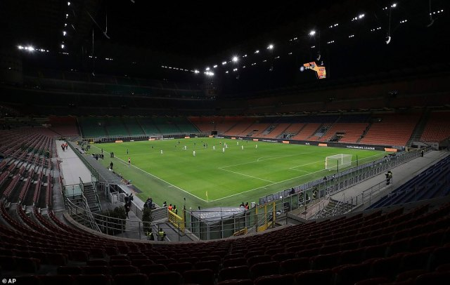 In a picture of what could be to come, Inter Milan's San Siro stadium was empty for the team'sEuropa League match as sporting fixtures could be played behind closed doors or even cancelled to avoid spreading illness