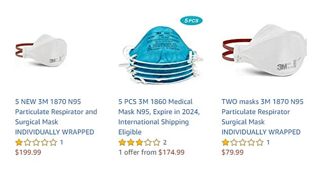 Mask prices ramp up on Amazon and sell out in stores amid ...
