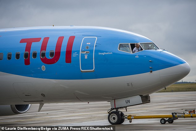 Airline TUI (stock image) has confirmed it will not bejetting the holidaymakers home - leaving many of the tourists stranded.Around 700 tourists were in the hotel at the time of the outbreak and 130 have been told they can leave