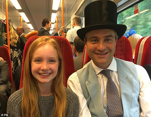 Financier Ben Goldsmith's wifeJemima is expecting a baby. It comesseven months after his teenage daughter Iris (pictured with her father) was killed in a tragic accident on their family farm in Somerset, writes RICHARD EDEN