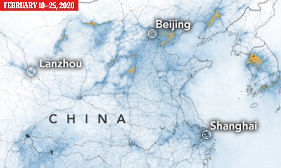 Amazing NASA images show how pollution has CLEARED over China ...