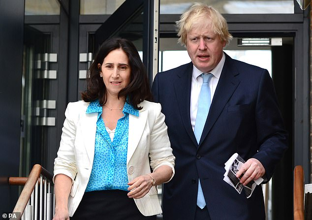 Marina Claire Wheeler was named as the 'petitioner' and 'applicant' in the case, while Alexander Boris De Pfeffel Johnson was named as the 'respondent'. Pictured: The couple together in 2015