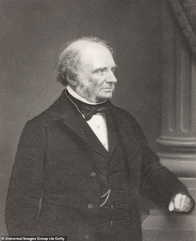 John Russell, 1st Earl Russell, one of Britain's leading 19th-century Whig and Liberal politicians, who fathered two sons with his wife Lady Russell in 1848 and 1849