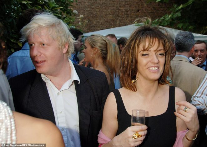 In 2004 Mr Johnson was sacked from the Tory front-bench over a reported affair with journalist Petronella Wyatt (pictured at theSpectator Magazine Summer Party in 2006)