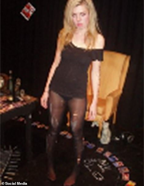 Carrie Symonds in a play when she was a student at Warwick University