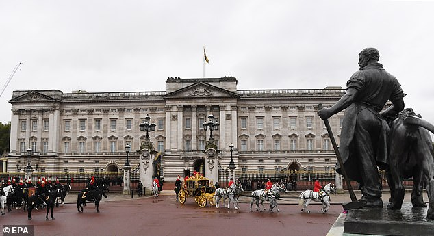 Pictured: Buckingham Palace, where Andrew is alleged to have taken the Dancing On Ice Star on a date