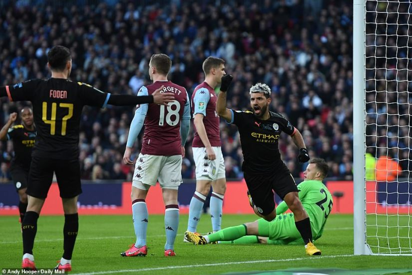 Aguero was assisted by Phil Foden, who found the Argentine in the box with a accurate header back across the face of goal