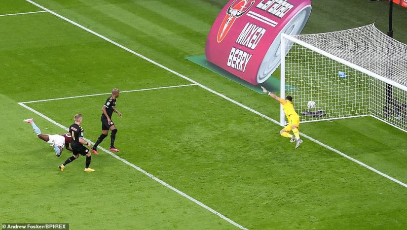 The Tanzanian got in-between Fernandinho andOleksandr Zinchenko to give his team a route back into the final at Wembley