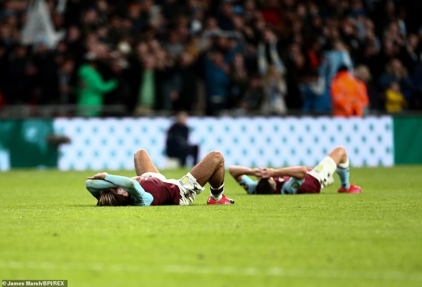 It was heartbreak for Aston Villa in the end - captain Jack Grealish shows his dejection after the full-time whistle