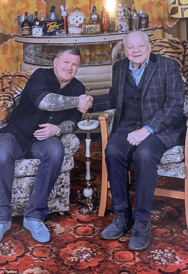 Ricky captioned the snap: 'Met one of my heroes today. Sir David Jason (Del Boy). Absolutely made up!'