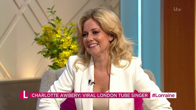 Charlotte Awbery (pictured), from Romford, East London appeared on Lorraine today to speak about landing a record deal after going viral