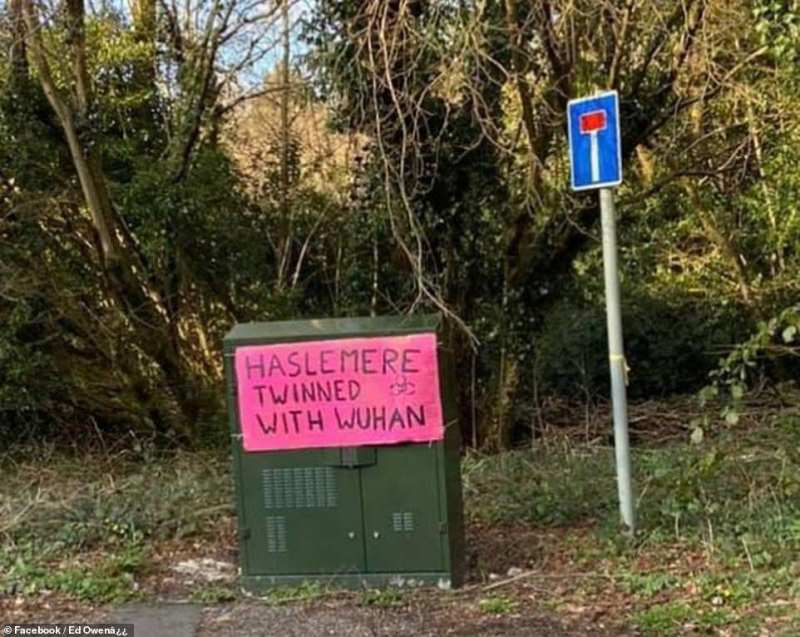 Haslemere is at the centre of the latest coronavirus outbreak in Britain - but some have teased that the affluent town should be 'twinned with Wuhan'