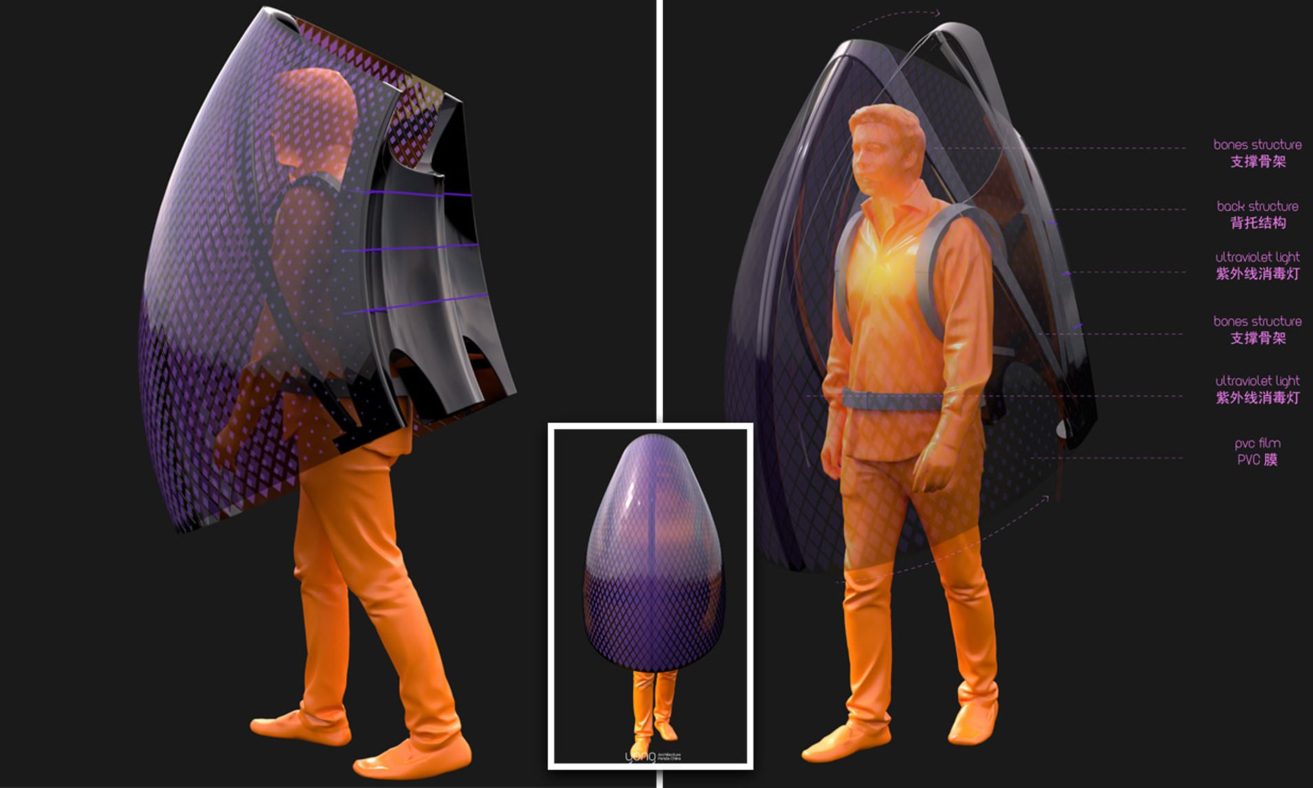 Personal bubble concept heats up to temperatures high enough to ...