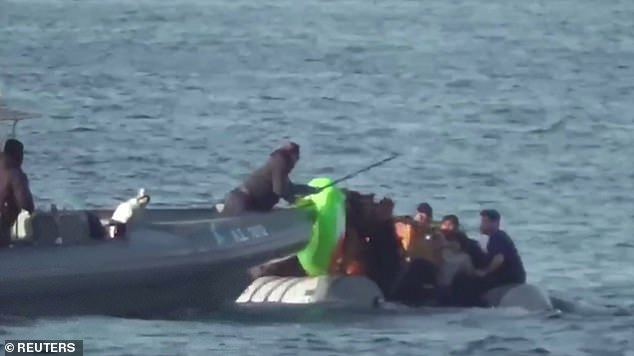 A Turkish official claimed that the Greek coast guard 'performed manoeuvres aimed at sinking' the inflatable boat