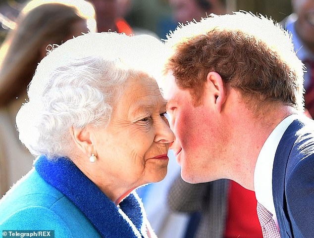 The Queen told Prince Harry (pictured together) he will 'always be welcomed back' during four-hour rift-healing talks at Windsor Castle, a royal source has claimed