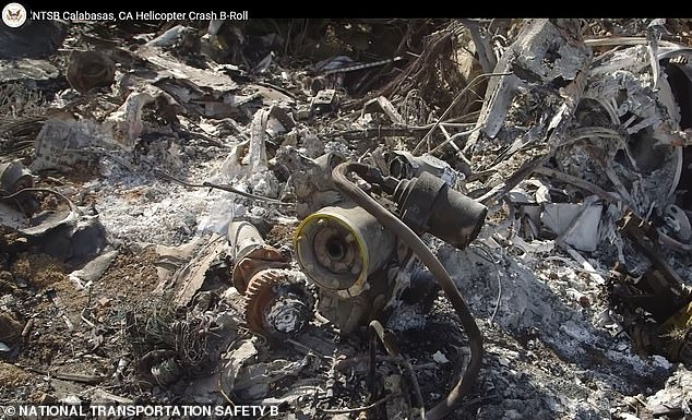 A still image taken from a January 27 video released by the National Transportation Safety Board of the remains of the helicopter that crashed a day before, killing NBA legend Kobe Bryant, his daughter Gianna, 13, and seven others